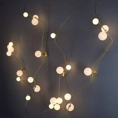 现代, 壁灯, 吊灯, 壁灯吊灯组合, 现代壁灯, 现代吊灯