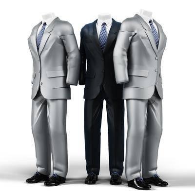 男模特, 模特, 西装, 服装, 鞋子