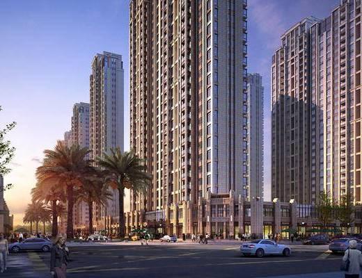 大厦, 建筑, 住宅, 现代