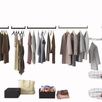 衣帽, 储物箱, 衣架, 现代