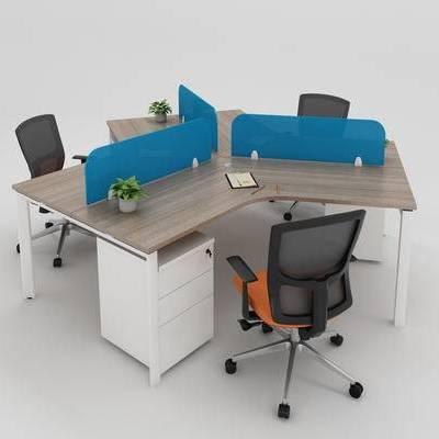 办公桌组, 异形桌组, 职员桌组, Y形桌组
