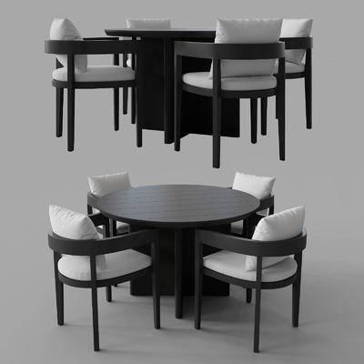现代, 餐桌, 餐椅