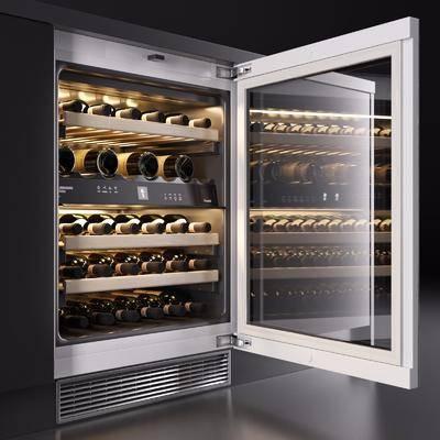 现代酒柜, 现代, 冰柜, 酒