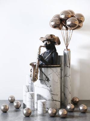 雕塑, 雕刻, 摆件组合