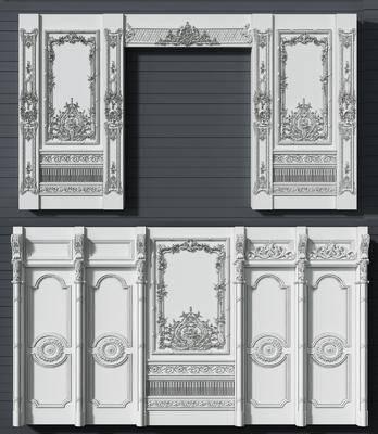 护墙板, 法式