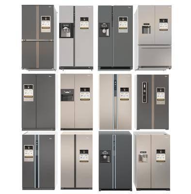 现代家用冰箱