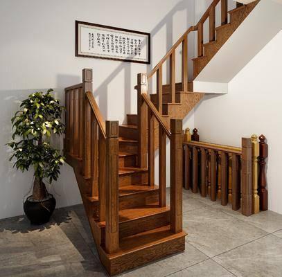 楼梯, 美式楼梯, 实木楼梯, 美式, 实木, 双十一