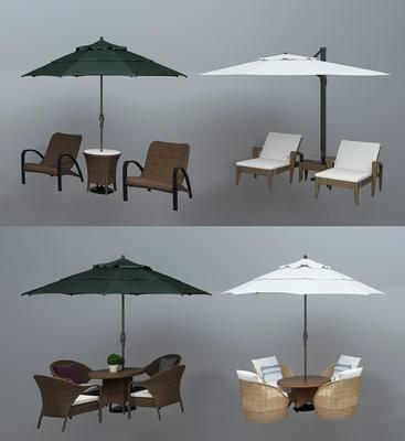 户外椅, 遮阳伞, 休闲椅, 现代