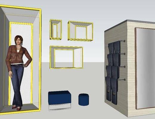 装饰柜, 柜架组合, 摆件组合
