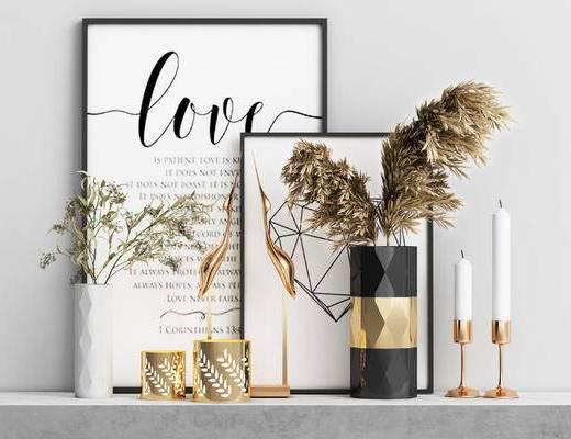花瓶摆件, 装饰品, 盆栽, 花瓶, 装饰画