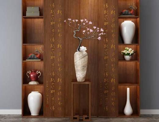 玄关, 置物柜, 花瓶, 植物