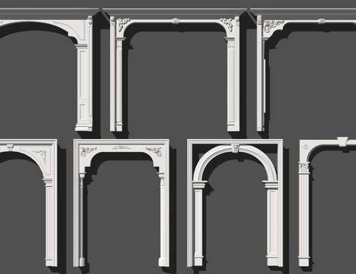 欧式门套垭口雕花角花罗马柱