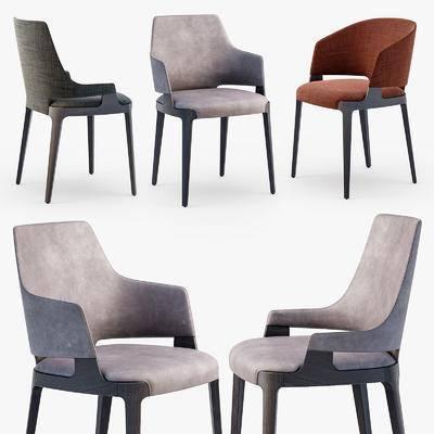 单人椅, 布艺单人椅, 实木单椅, 现代