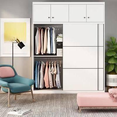 现代衣柜, 现代, 衣柜, 衣服, 椅子, 凳子, 植物, 地毯