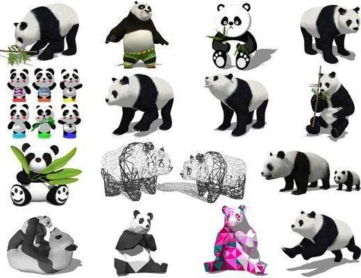 现代大熊猫公仔