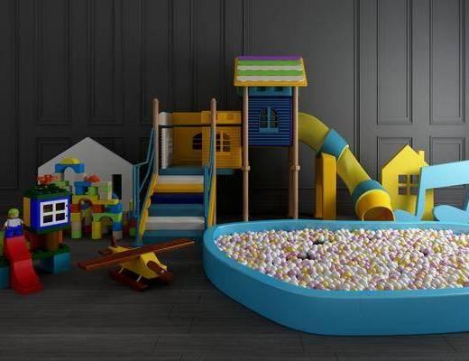 现代玩具, 游乐设备, 波波池, 滑滑梯