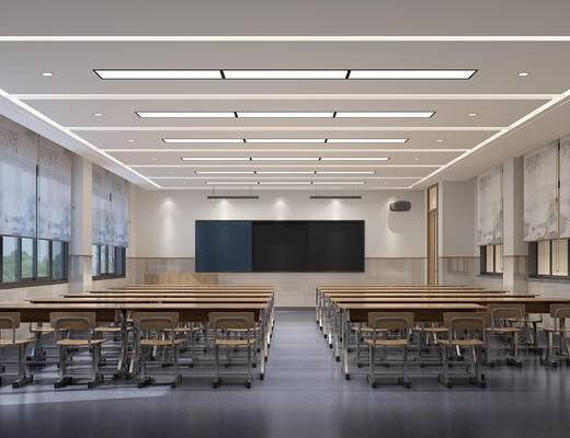 现代书法教室, 书桌椅