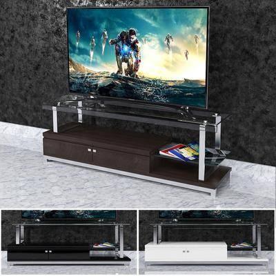 电视柜, 摆件, 电视, 现代