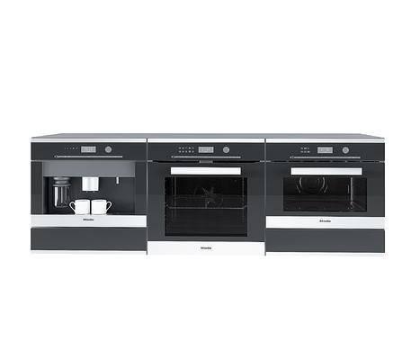 现代烤箱咖啡机组合