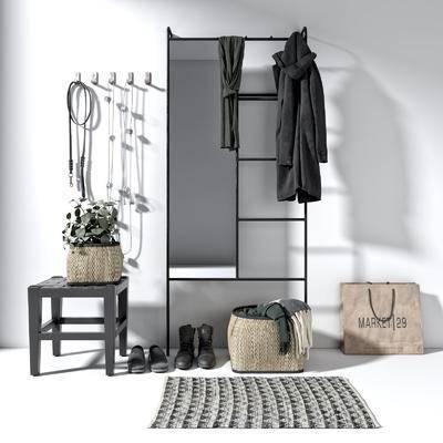 现代鞋柜, 鞋柜, 置物柜