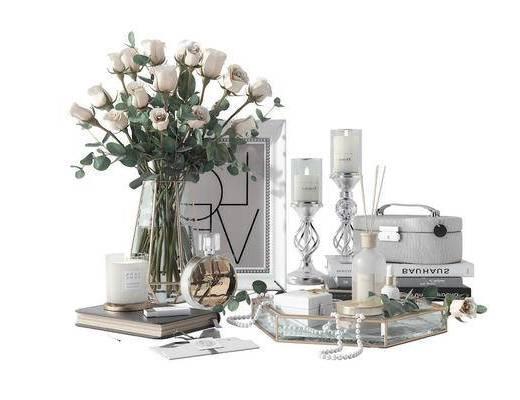花瓶, 陈设品, 盆栽, 摆件组合