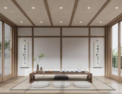 新中式, 茶室, 家装
