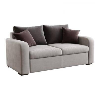 双人沙发, 布艺沙发, 现代
