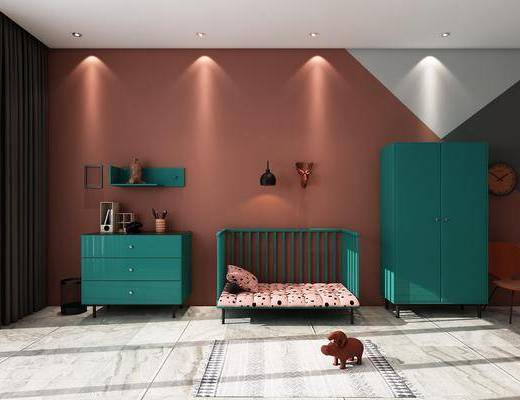 鞋柜, 边柜, 饰柜, 婴儿床