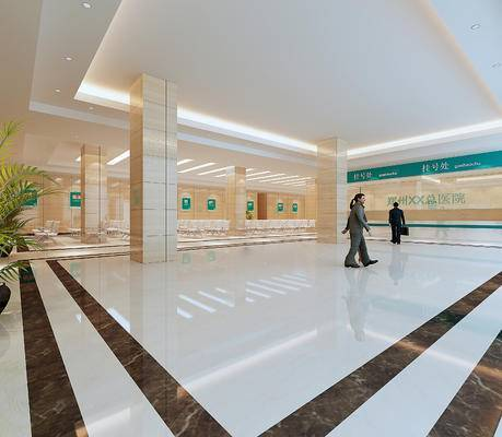 现代医院, 医院大厅, 医院走廊
