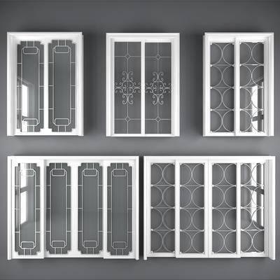 门构件, 门窗, 门, 构件, 移门, 玻璃门
