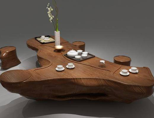 中式茶桌, 茶桌, 茶桌椅