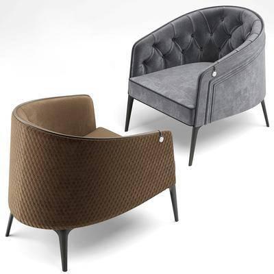 单人沙发, 绒布沙发, 现代