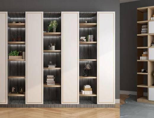 书柜, 装饰柜, 装饰品, 陈设品, 现代