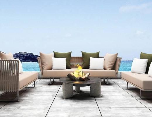 沙发组合, 沙发茶几组合, 现代沙发, 多人沙发, 茶几, 北欧沙发, 北欧