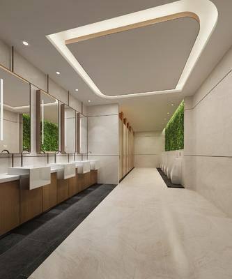 公共卫生间, 现代, 洗手台