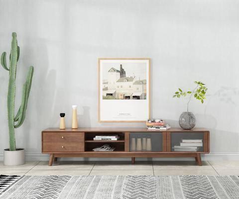 现代实木电视柜, 实木电视柜