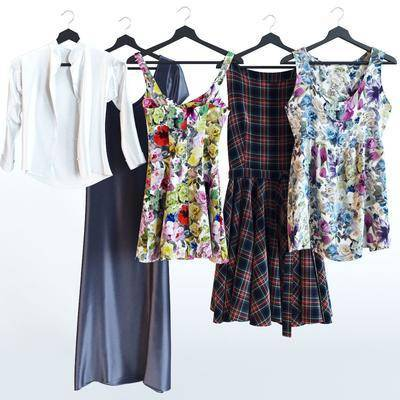衣服, 女装, 衣架, 现代