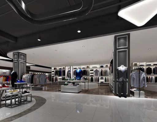 商场, 店铺, 服饰, 衣架