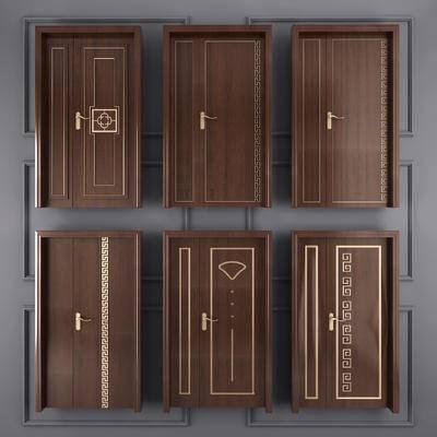推拉门, 双开门, 母子门, 门, 门构件, 新中式