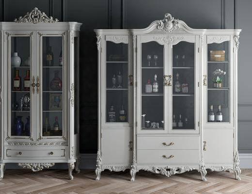 酒瓶, 紅酒, 酒柜