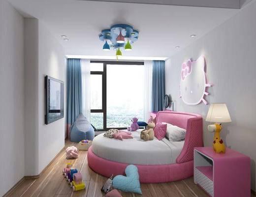 儿童房, 卧室, 床具组合, 现代儿童房