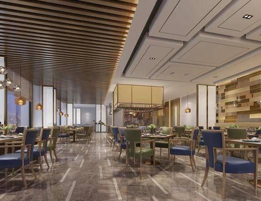 餐厅, 桌椅组合, 单椅, 现代餐厅, 摆件组合, 现代