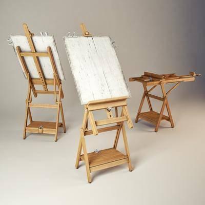 画具, 画架, 木架, 画板, 现代