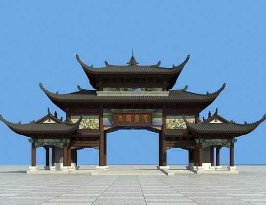 ?#21697;? 古建筑, 门面门头, 中式