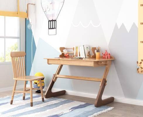 现代书桌, 书桌, 儿童书桌
