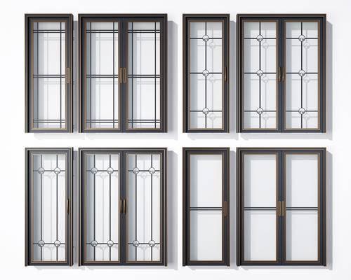 平开门, 推拉门, 玻璃门