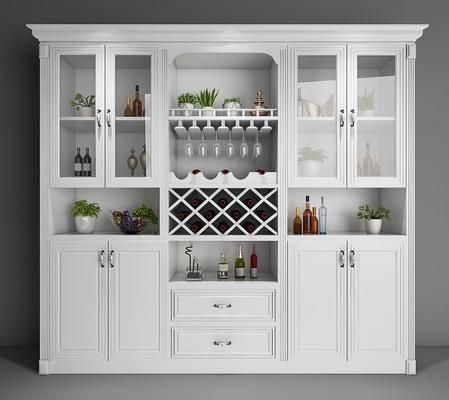 酒柜, 柜, 木柜, 美式, 简欧
