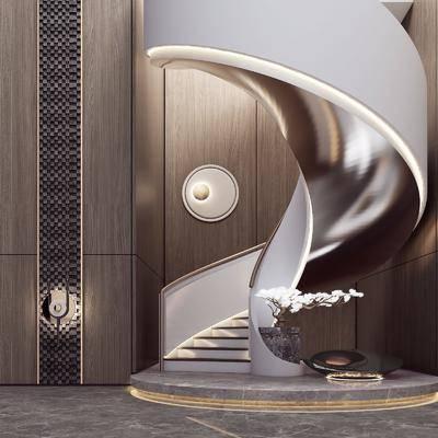 旋转楼梯, 景观小品, 墙饰, 壁灯
