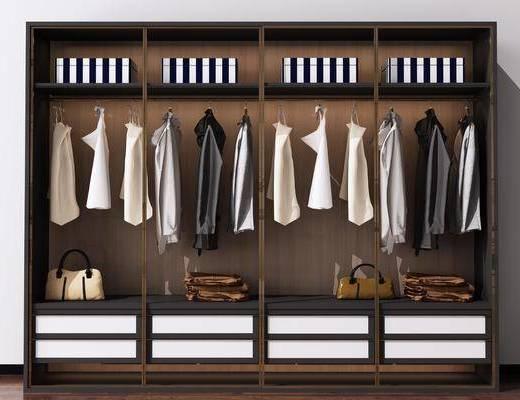 衣柜, 装饰柜, 服饰, 新中式