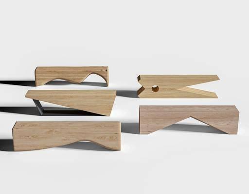 现代, 实木凳, 单体